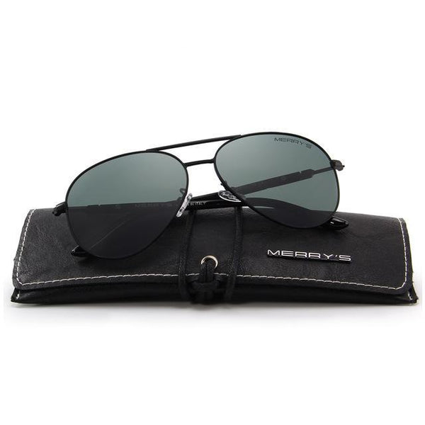 Men Classic Pilot Polarized Sunglasses