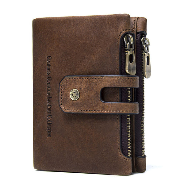 Genuine Leather Men Wallet Small