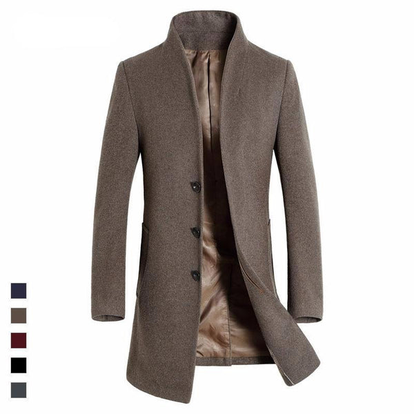 Long High Quality Men's Coat