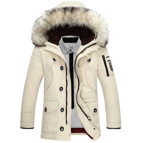 Winter New Men's Jacket Hooded