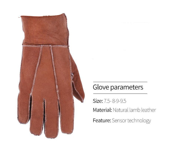 Fashion Genuine Men's Fur Gloves