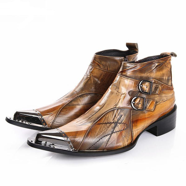 Men's Ankle Boots Spring Autumn Genuine Leather