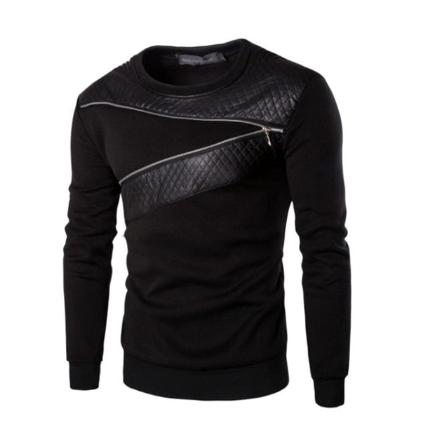 Men`s Leather T-Shirts Long Sleeve