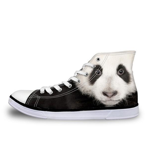 Mens Vulcanized Sneakers 3D Animals