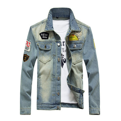 Cowboy Men's Denim Jacket 2018 Spring Autumn