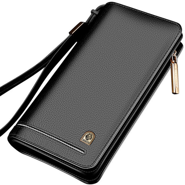 Genuine Leather Long Wallet Large Capacity For Men