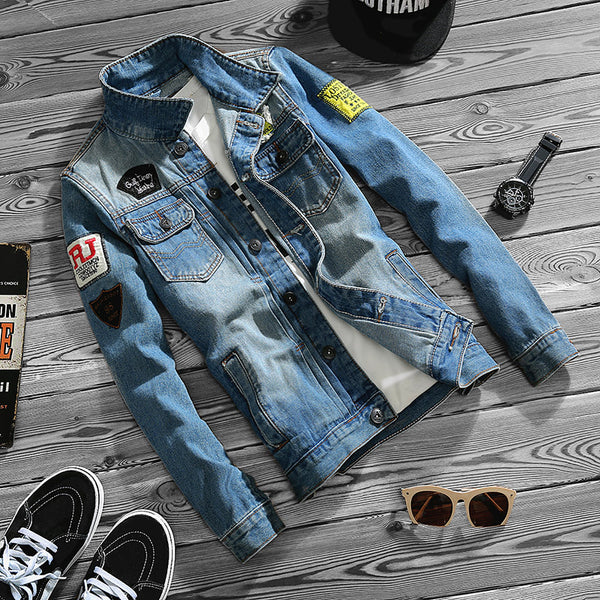 New-Age Denim Patched Spring Jacket