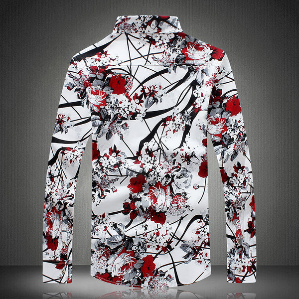 Contemporary Vogue Floral Dress Shirt
