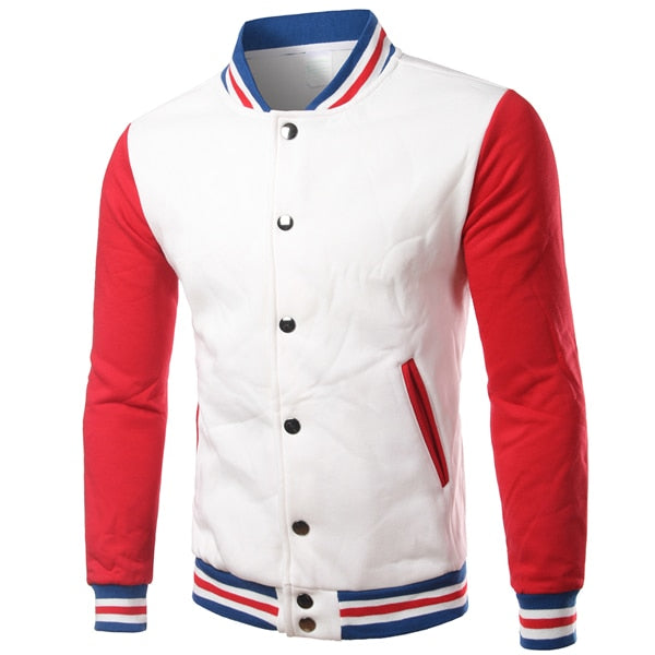 Baseball Jacket Men Cotton