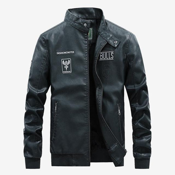 Motorcycle Leather Jacket Men's