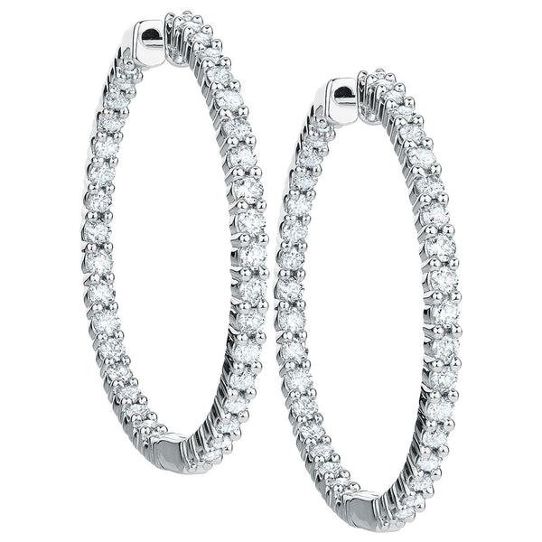 14K Diamond Hoop Earrings #10121862