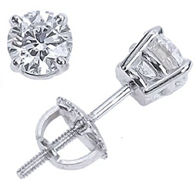 14K Diamond Earrings studs # 10122809