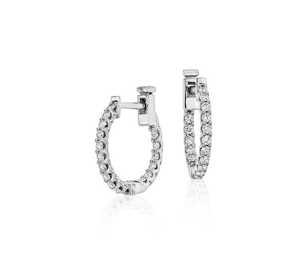 14K Diamond Hoop Earrings #10105189