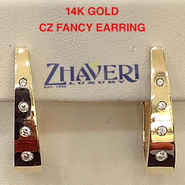 14KT GOLD CZ EARRINGS # 10134012