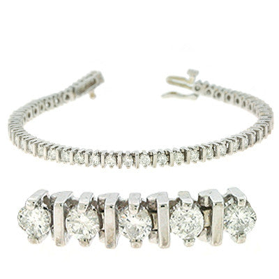 Bar Set Tennis Bracelet