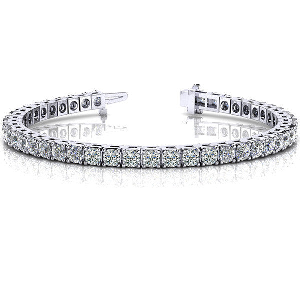 Four Prong Tennis Bracelet  # B4012-8WG - Zhaveri Jewelers