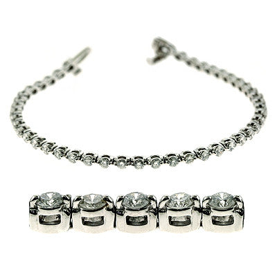 White Gold Diamond Bracelet  # B4025-6WG - Zhaveri Jewelers
