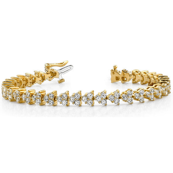 Diamond Tennis Bracelet  # B4030-8 - Zhaveri Jewelers