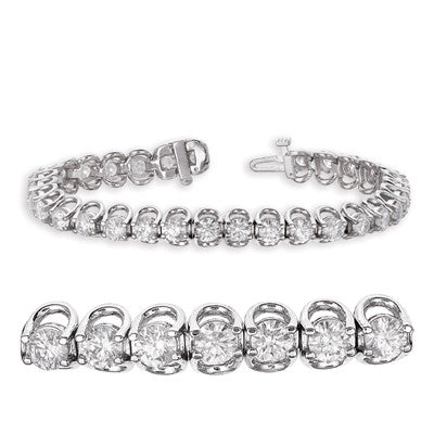 White Gold Diamond Bracelet  # B4044-8WG - Zhaveri Jewelers