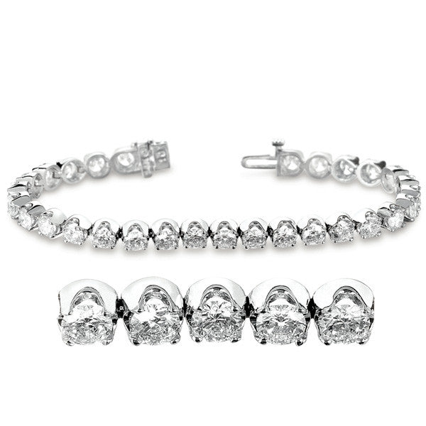 Diamond Tennis Bracelet  # B4075-10WG - Zhaveri Jewelers