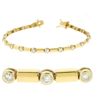 Yellow & White Gold Diamond Bracelet