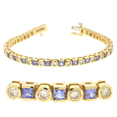 Tanzanite & Diamond Bracelet
