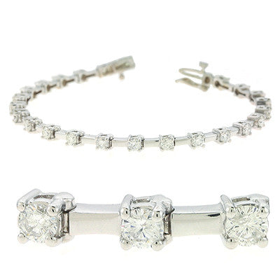 Diamond Tennis Bracelet  # B4346-3WG - Zhaveri Jewelers