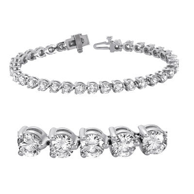 Three Prong Tennis Bracelet