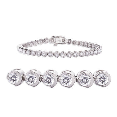 White Gold Tennis Bracelet  # B4355-1WG - Zhaveri Jewelers