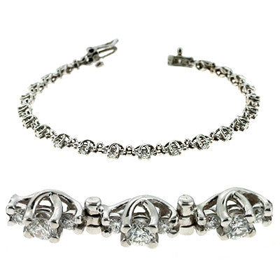 Three Stone Diamond Bracelet