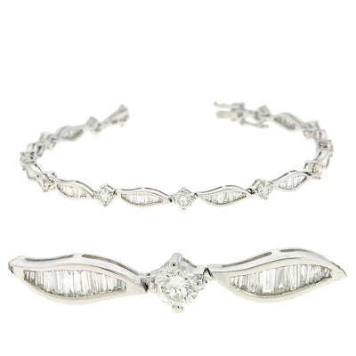 White Gold Diamond Bracelet  # B4373WG - Zhaveri Jewelers