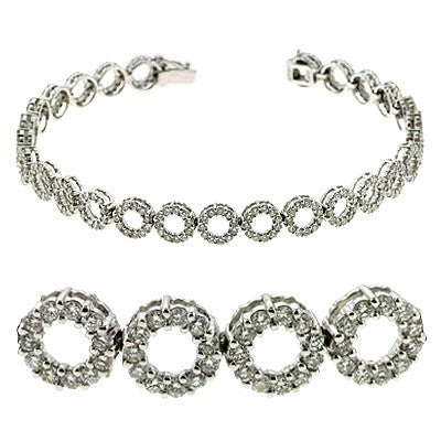 White Gold Diamond Bracelet