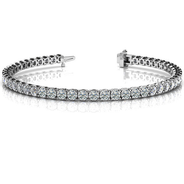 Diamond Tennis Bracelet  # B4409-10WG - Zhaveri Jewelers