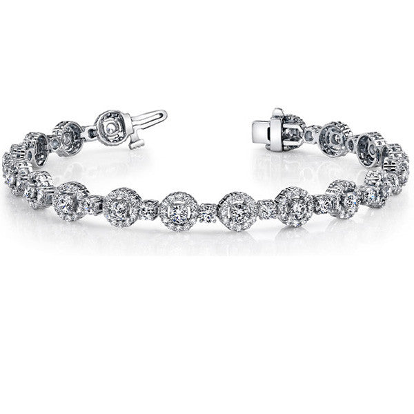 White Gold Diamond Bracelet 4.79 Carats # B4412-D2.7MWG - Zhaveri Jewelers