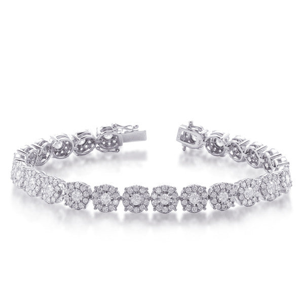 White Gold Diamond Bracelet  # B4414WG - Zhaveri Jewelers