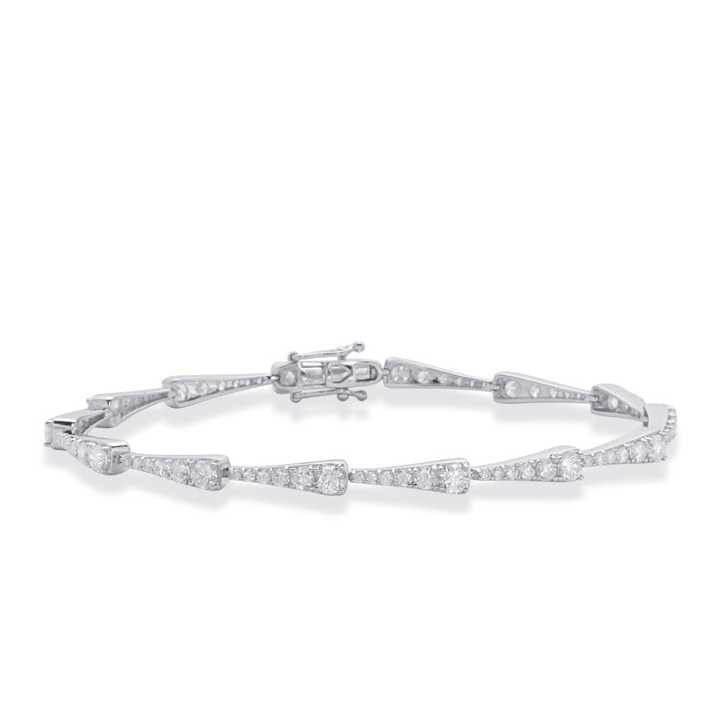 14K White Gold and Diamond Bracelet. #1090-B4420-2WG