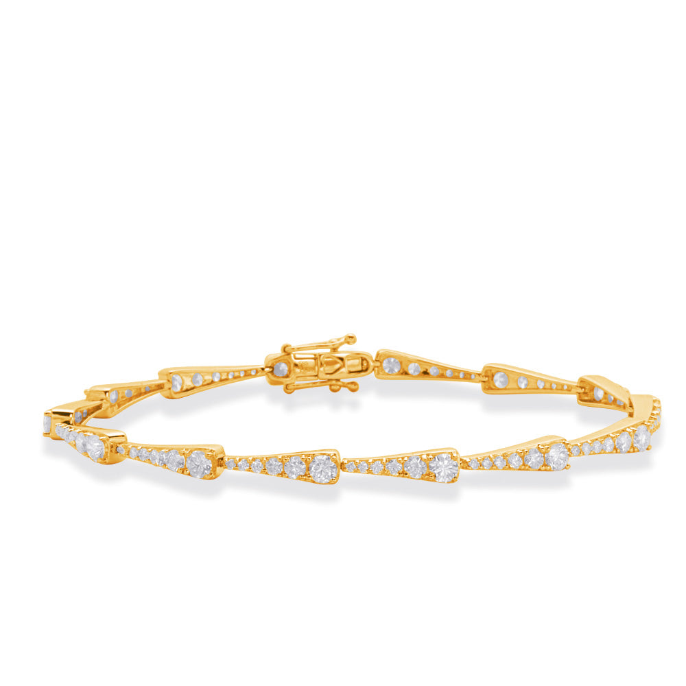 14K Yellow Gold and Diamond Bracelet. #1090-B44202YG