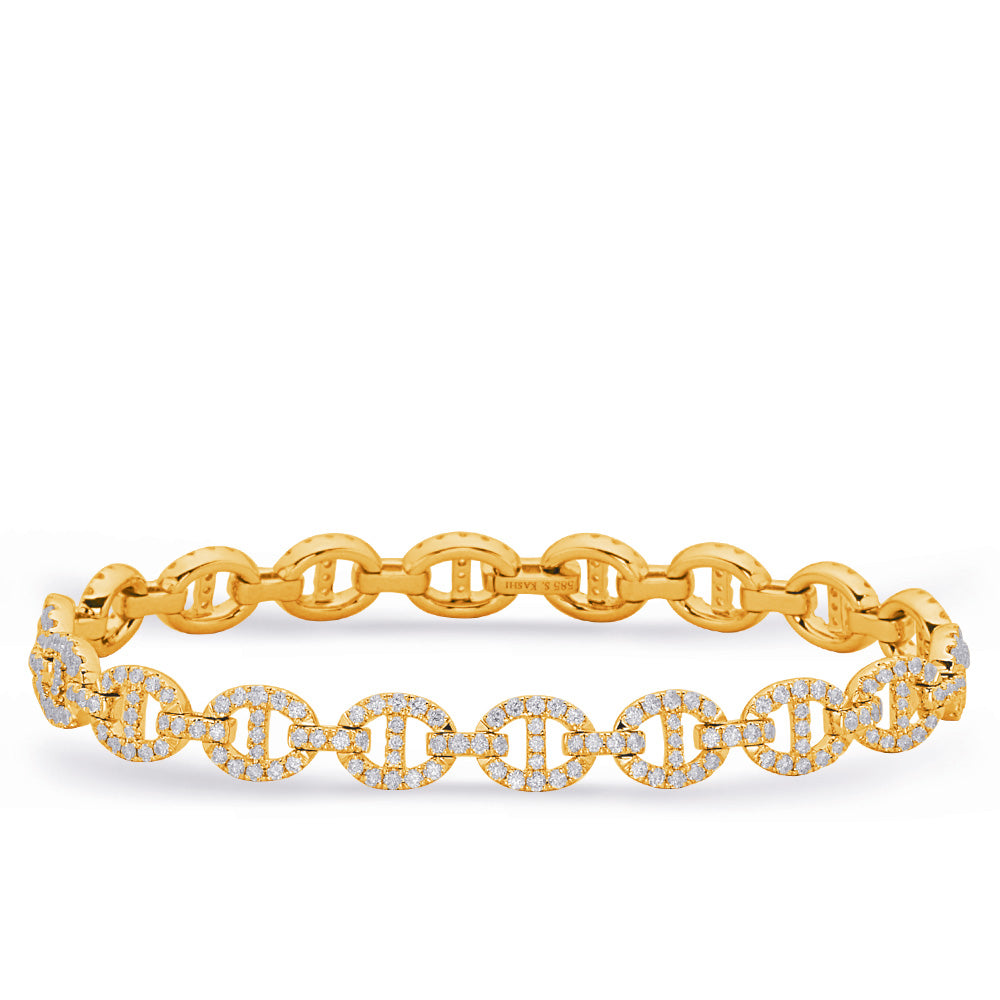 14K Yellow Gold and Diamond Bracelet. #1090-B4421YG
