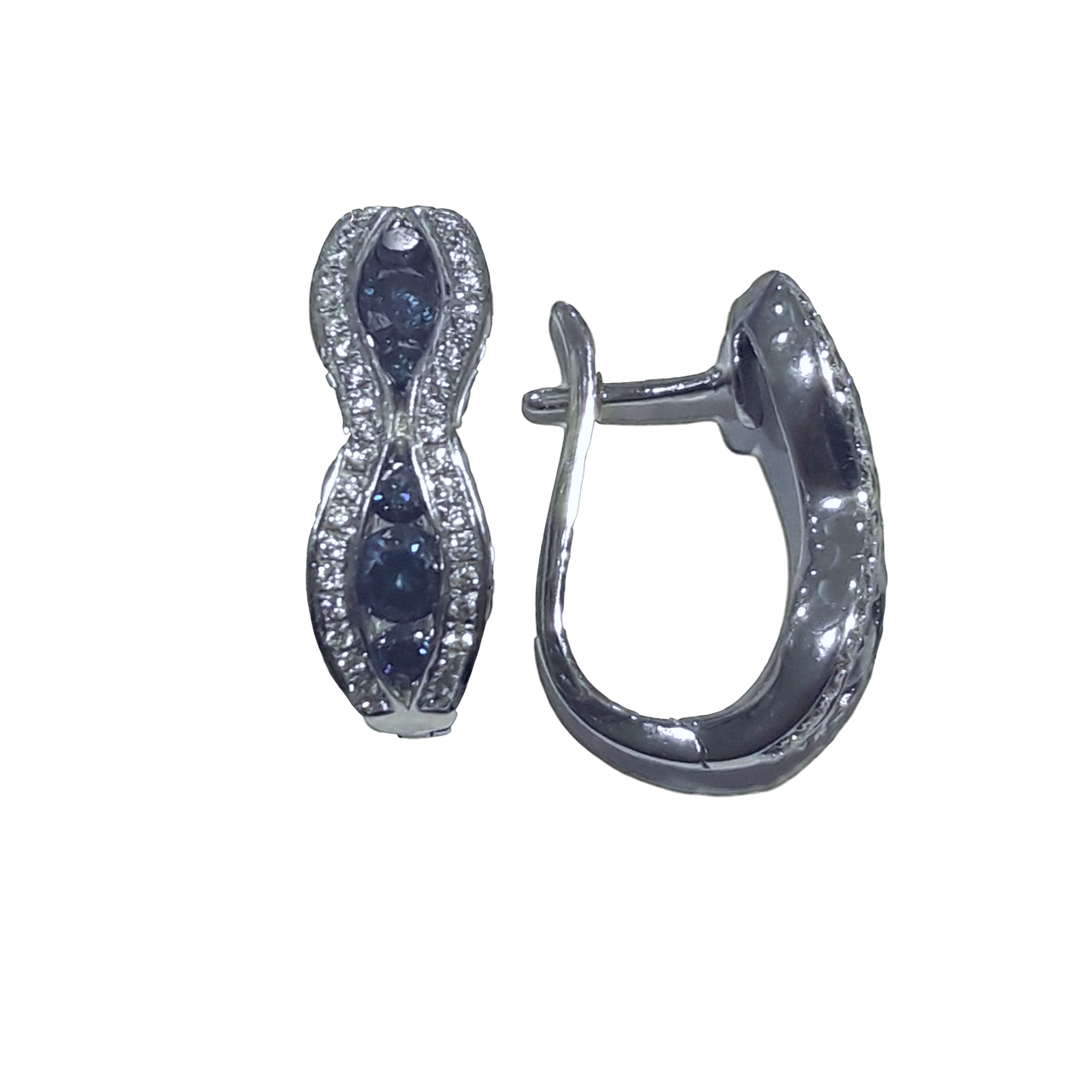 Blue Diamond Earrings  # AK38464