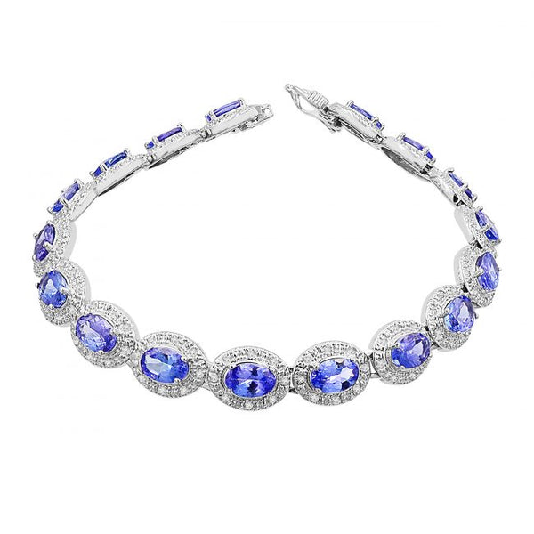 14K Tanzanite & Diamond Bracelet. #1163-BR2127W-T