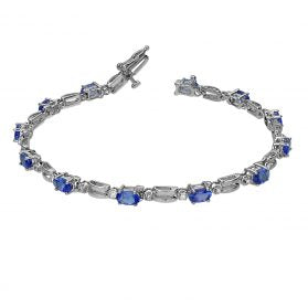 14K Tanzanite &  Diamond Bracelet. #BR2203W-T