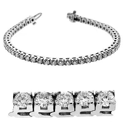 Four Prong Tennis Bracelet  # BS4012-4WG - Zhaveri Jewelers