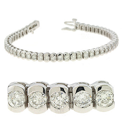 Tube Tennis Bracelet  # BS4100-5WG - Zhaveri Jewelers