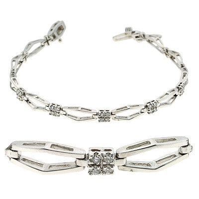 Diamond Bracelet  # B154WG - Zhaveri Jewelers