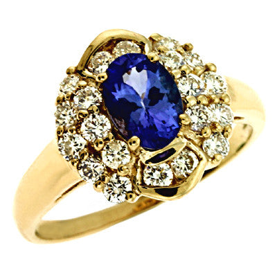 Tanzanite./diamond Ring  # C5099-T - Zhaveri Jewelers