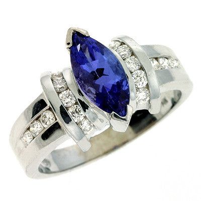 Tanzanite & Diamond Ring