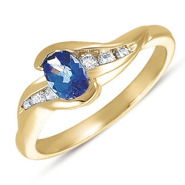 Tanzanite & Diamond Ring  # C5224-T - Zhaveri Jewelers