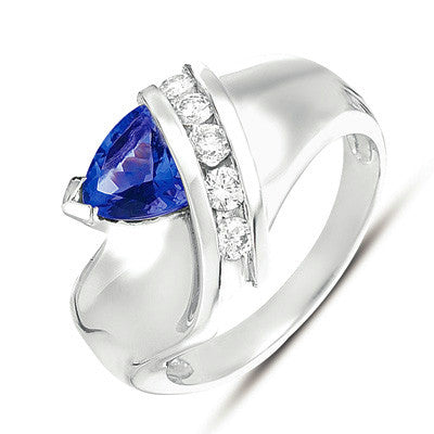 Tanzanite./ Diamond Ring  # C5319-TWG - Zhaveri Jewelers