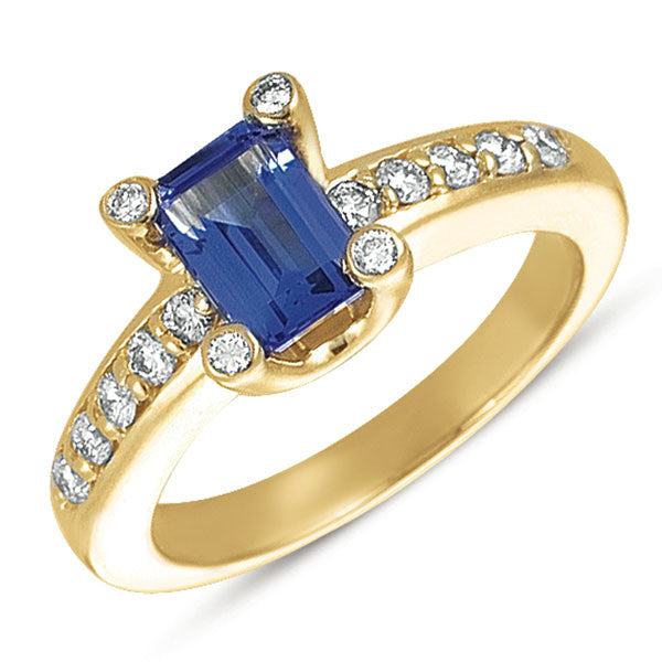 Tanzanite./diamond Ring  # C5420-T - Zhaveri Jewelers