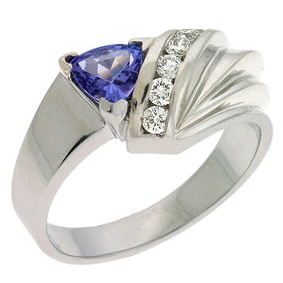 Tanzanite & Diamond Ring  # C5437-TWG - Zhaveri Jewelers